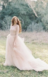 Nude Tulle Wedding Skirt Peony Weddig Dress