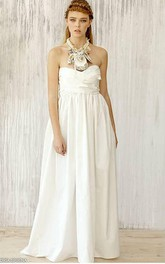Taffeta A-Line Sweetheart Dress With Ruching and Pleats