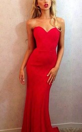 Newest Red Mermaid Sweetheart Prom Dress 2018 Zipper Sleeveless
