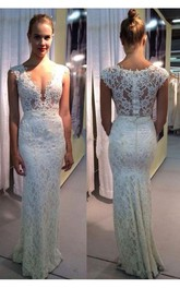 Elegant Lace Sleeveless 2018 Wedding Dress Zipper Back Floor Length
