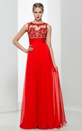 Straps Appliques Beading Backless Long Prom Dress
