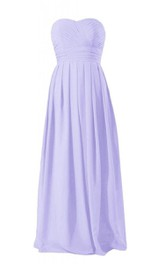 Classical Sweetheart Ruched Chiffon A-line Gown