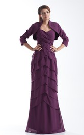 Fabulous Sheath Strapped Chiffon Mother of the Bride Dresses