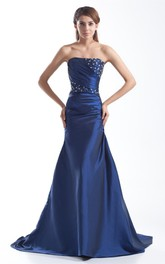 Impressive Taffeta Beaded Sheath Sleeveless Special Occasion Dresses