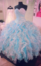 A-Line Ball Gown Knee-Length Straps Bow Ruffles Straps Keyhole Tulle Dress