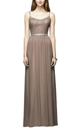 Modern Strapped Floor-length Bridesmaid Dress