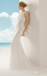 Dress With Exquisite Illusion Back Design