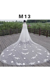 New Korean Style 3 Meters Double-layer Cover Trailing Bride Super Long Super Wide Veil