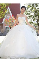 Timeless Beadings Lace Sweetheart Wedding Dresses 2018 Ball Gown Lace-up