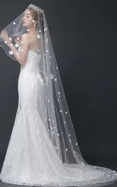 New Arrival Wedding Veil Trailing Bridal Veil Headdress With Flowers