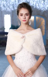 Bride Wedding Shawl New Winter Double-sided Warm Shawl With Brooch