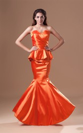 Glossy Pleated Trumpet Special Occasion Dresses