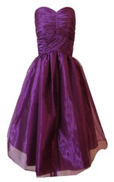 Sweetheart A-line Mini Dress With Ruched Bodice