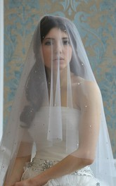 New Western Style Simple Hand-made Bridal Veil