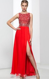 Modern Straps Sequins Beading Hollow Prom Dress