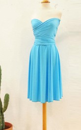 On Blue Malibu Evening Romantic For Event Short Infinity Light Blue Short Bridesmaid Pool Blue Dress