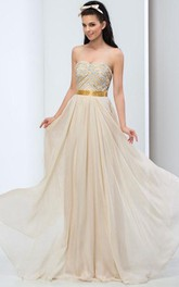 Sweetheart Beaded Floor-Length Prom Dress
