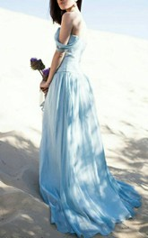 Blue Wedding Alternative Wedding Chiffon Wedding Romantic Wedding Bohemian Wedding Colour Wedding Kimon Dress