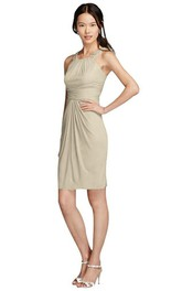 Sleeveless Scoop-neck Short Sheath Chiffon Dress