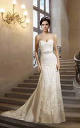 Sweetheart Sheath Lace Wedding Dress