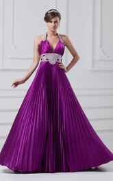 Alluring Sleeveless a Line Halter Brush Train Special Occasion Dresses
