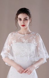 Breathable Bridal Shawl Summer Thin Cloak Lace Shawl
