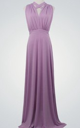 Purple Formal Purple Floor Length Evening Gown Infinity Lavender Bridesmaid Maxi Wrap Convertible Dress