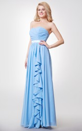 Sweetheart Chiffon A-line Gown With Ruffles