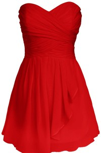 Sweetheart A-line Dress With Draping and Basque Waist