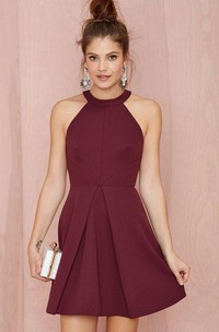 Sexy Halter Backless A Line Short Party Dresses