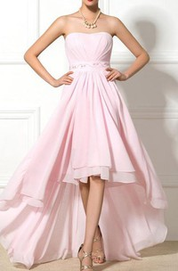 Sweetheart Beaded Asymmetrical Prom Dress