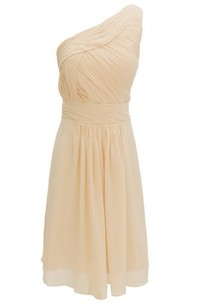 One-shoudler Short Dress With Ruched Waist