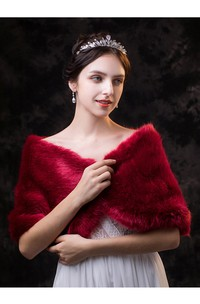 Ruby Fancy Short Bridal Shawl For Fall/Winter