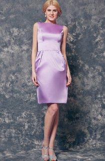 Simple Sleeveless A-line Short Satin Dress