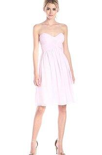 Simple A-line Mini Chiffon Dress with Pleats