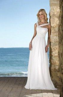 Hot Selling sheath V-Neck Chiffon Wedding Dress