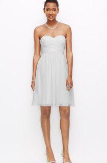 Chiffon Sweetheart Short Dress With Crisscross Ruching