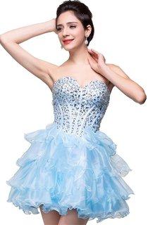 Glamroous Sweetheart Crystal Homecoming Dress 2016 Organza