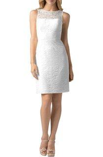 Sleeveless Illusion Lace Short Dress