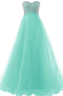 Sweetheart Bust-embellishmented A-line Gown With Lace-up Back