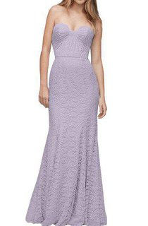 Sweetheart Ruched Sheath Lace Floor-length Dress