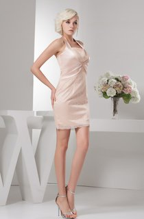 Sleeveless Mini Fitted Central Ruching and Dress With Broach