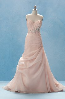 Elegant Long Dress With Crisscross Ruching