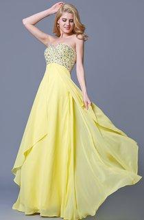 Charming Jewel-beaded Flyaway Chiffon Gown