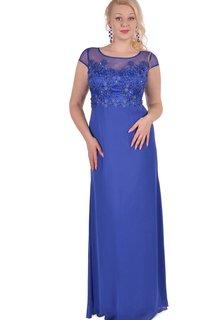 Sheath Floor-Length Jewel Short Sleeve Chiffon Appliques Zipper Dress