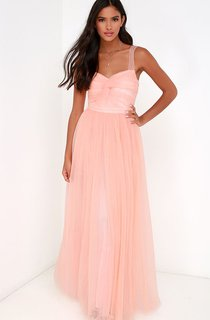 Sleeveless Long A-Line Dress With Zipper Back