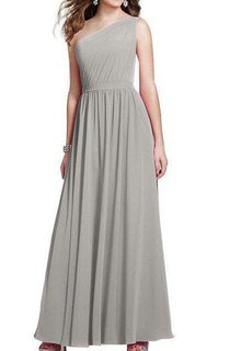 One Shoulder Ruched Chiffon Bridesmaid Dress