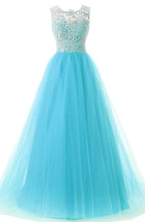 Fabulous A-line Lace and Tulle Long Dress