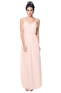 Floor Length Spaghetti Straps Chiffon Dress