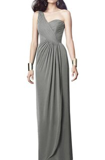 One Shoulder Ruched Bridesmaid Dress with Front Split